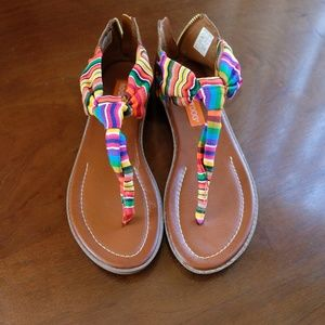 Rocket Dog Rainbow Ribbon Sandals (Size 9) NWOT